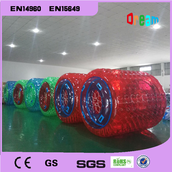 Free Shipping And Free a Pump Large Thickening Inflatable Hamster Ball Inflatable Water Roller Ball Expansion Cylinder Zorb Ball 7 3 6m inflatable water slide with free ce pump and repair kit