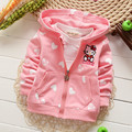Retail 2016 new Baby girl Hoodies Coats Hello Kitty Cardigan Jackets clothes Children Kids sweatshirts 0-3age 7 Color