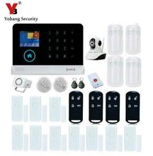 YobangSecurity Wireless GSM WIFI Auto Dialer DIY Home Alarm System Wireless WIFI Indoor IP Security Camera Smoke Fire Sensor