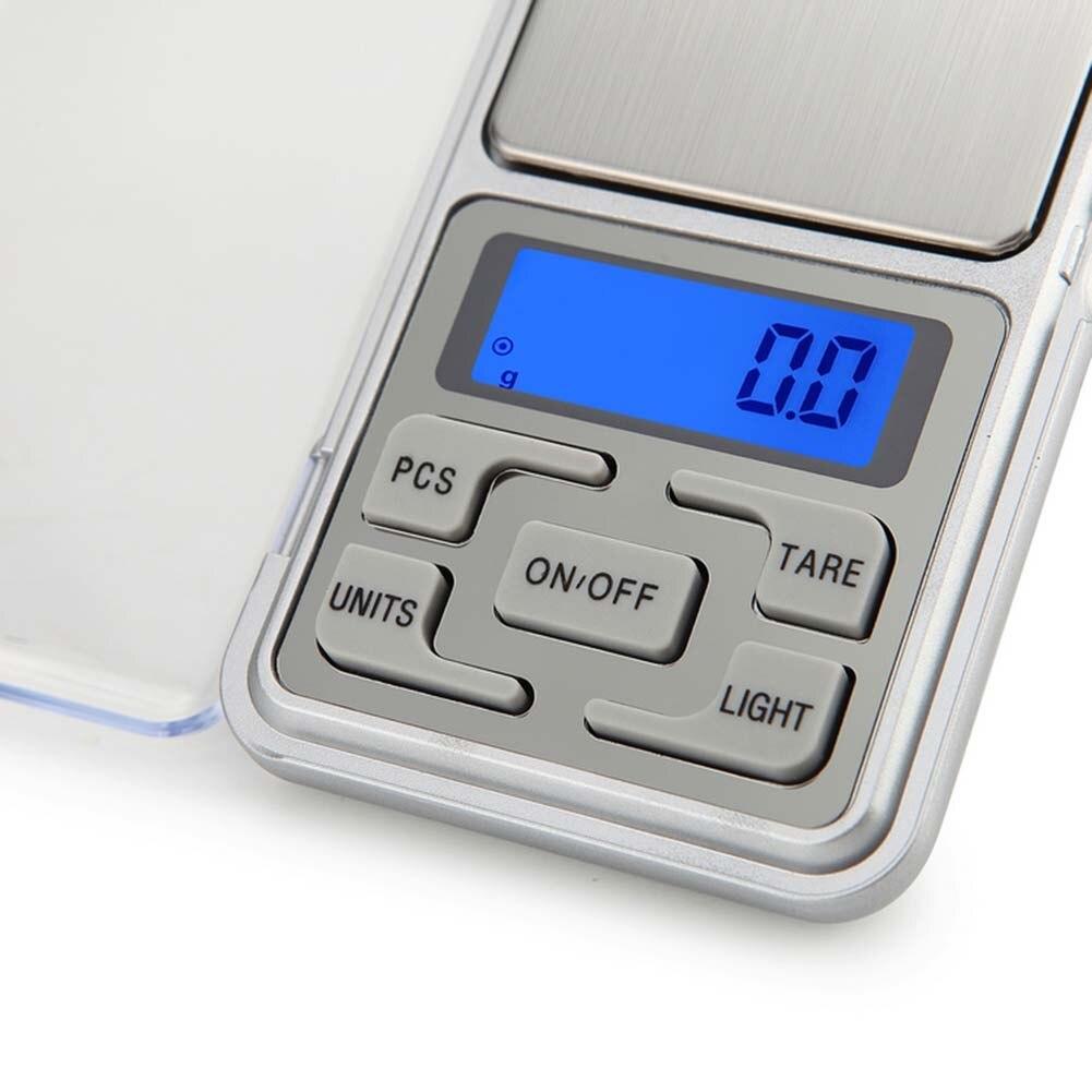Портативные цифровые весы из нержавеющей стали, электронные ювелирные изделия с ЖК-дисплеем, кухонные карманные весы для измерения веса SLC88