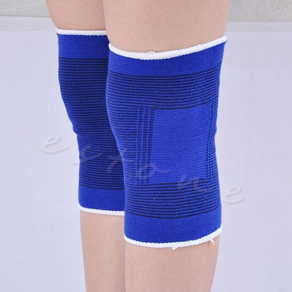 2pcs Elastic Calf Knee Support Sleeve Brace Guard Sprain Injury Sports Bandage