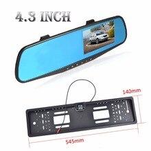 """1080 P Full HD 4.3 """"Screen Video Recorder Dash Cámara Gran Angular Cámara de Visión Nocturna DVR dash cam car dvr videocámara"""