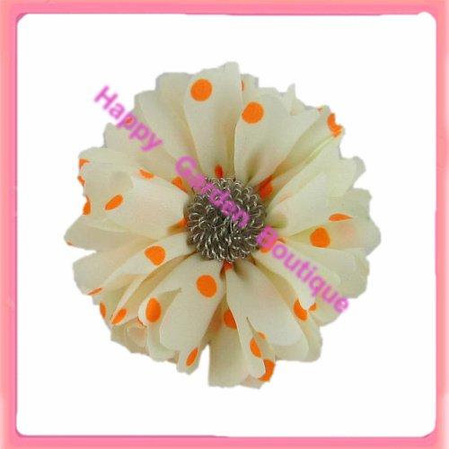 Горячая распродажа! 12 шт флуоресцентных точек в горошек Шелковый цветок