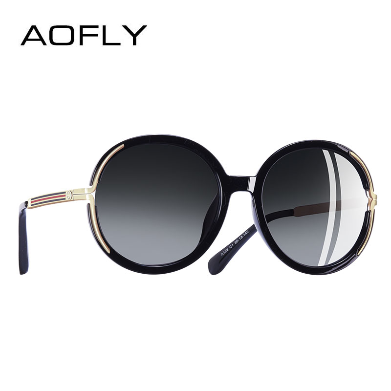 3e2e29c090 Comprar Aofly Marca Diseño Vintage Oversized Gafas De Sol Mujeres ...
