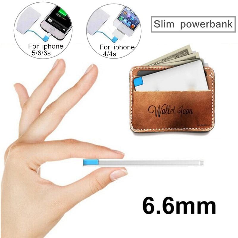Ultra thin powerbank 2600 mah cargador de reserva portable de batería externa de