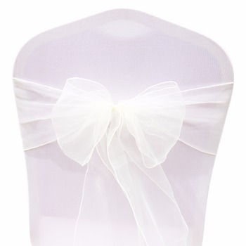 Wedding Organza Symmetry Sash For Party Chairs 2 Chair And Sofa Covers