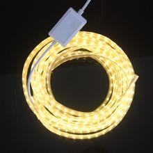 120leds/m 220V 5630 SMD LED Strip Light Dimmable flexible LED tape waterproof IP67 and dimmer controller,5m 10m 20m 50m 100m
