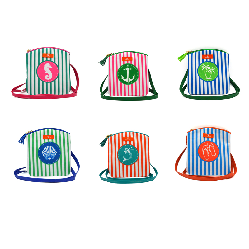BONAMIE Brand Design Women Messenger Bags Stripe Tassel Beach Bag Female Fashion Mermaid Shell Crossbody Bag Girl Shoulder Bag in Top Handle Bags from Luggage Bags
