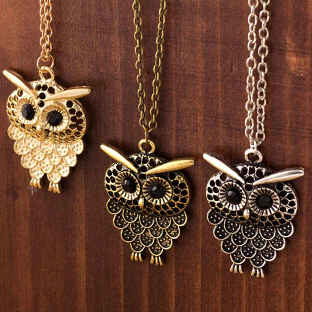 Owl Pendant Long Sweater Chain Jewelry