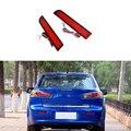 Car-styling For 2008-2014 Mitsubishi Lancer Red Lens LED Rear Bumper Reflector Brake Light Lamp Fog light
