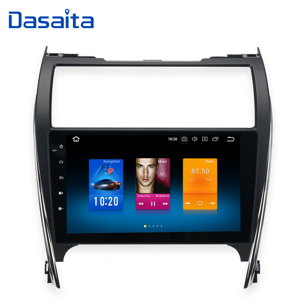 Dasaita 10 2 IPS touch screen Android 9 0 1 din Car Radio for toyota camry