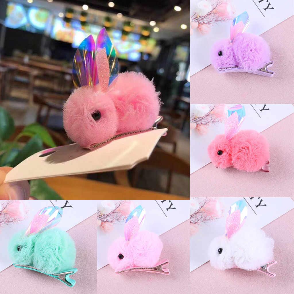 Bebé chica pelo accesorios para niños infantil bebé niñas 3D de conejo de dibujos animados Hairclip recién nacido pasadores de horquilla diadema para bebé, complemento para el pelo
