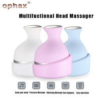 OPHAX 4 heads electric head massager hand held shiastu massagers manual wireless head scalp massager device health care products