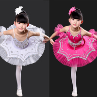 Black Kids Professional Swan Lake Tutu dance wear Dress Children Ballet Dancing Dress Stage Costumes Kids Girl Ballet Dress
