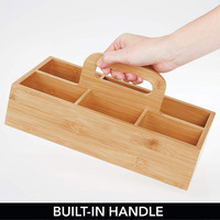 Newly 6 Slots Bamboo Wood Portable Tea Coffee Storage Box for Kitchen TE889