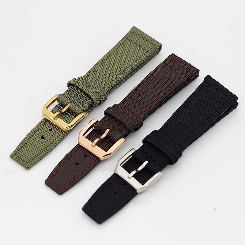 Высококачественный нейлоновый ремешок для часов IW Pilot's Watch Portugieser Mark Portofino Aquatimer Watch Band 20 мм 21 мм 22 мм