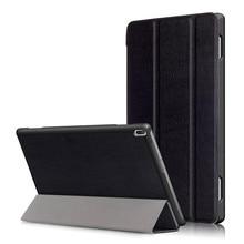 "PU Del Soporte Del Cuero Funda para el Lenovo Tab 4 10 TB-X304 TB-X304F TB-X304N TAB4 10.1 ""Tablet + 2 Unids Protector de Pantalla"