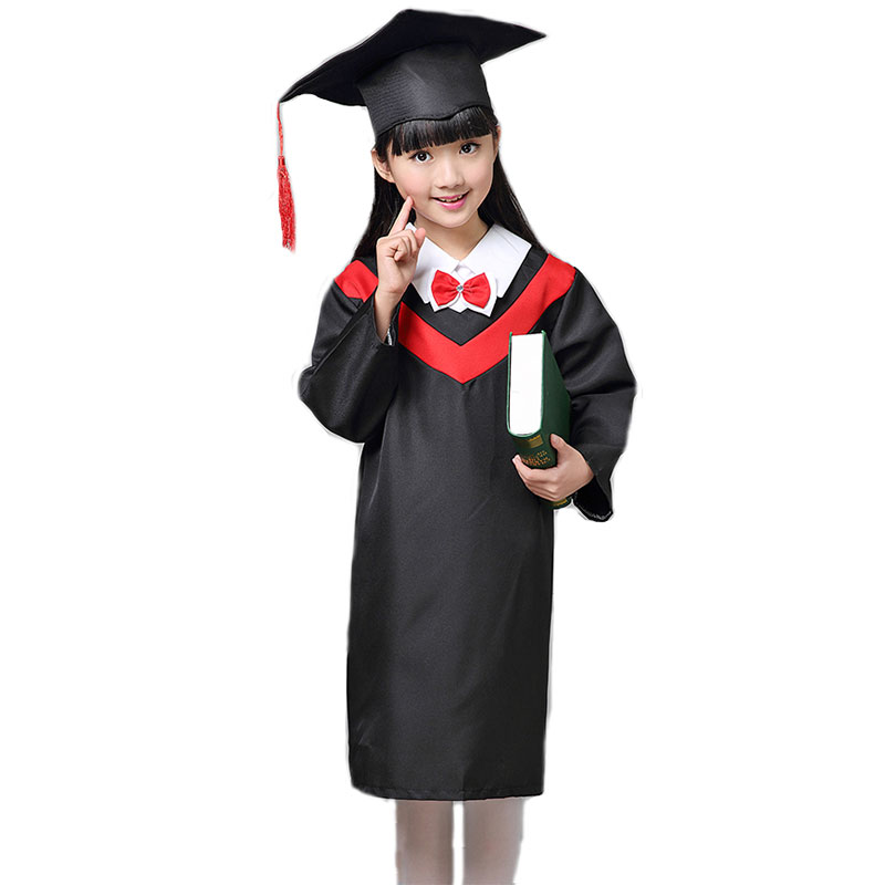 Children Student  Academic Dress School Uniforms Kid Graduation Costumes Kindergarten  Girl Boy Dr Suit Doctor Suits With Hat