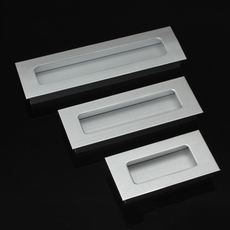 hole Pitch 64mm 96mm 128mm Aluminum alloy hidden handle Kitchen cabinet Furniture drawer HM58