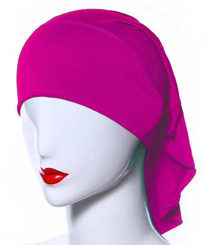 Image 4 - 20 Colors Muslim Women Soft Bone Ninja Inner Hijab Caps Islamic  Under scarf Hats Islamic Head Cover Chemo Cancer Headwear Wrap NIslamic  Clothing