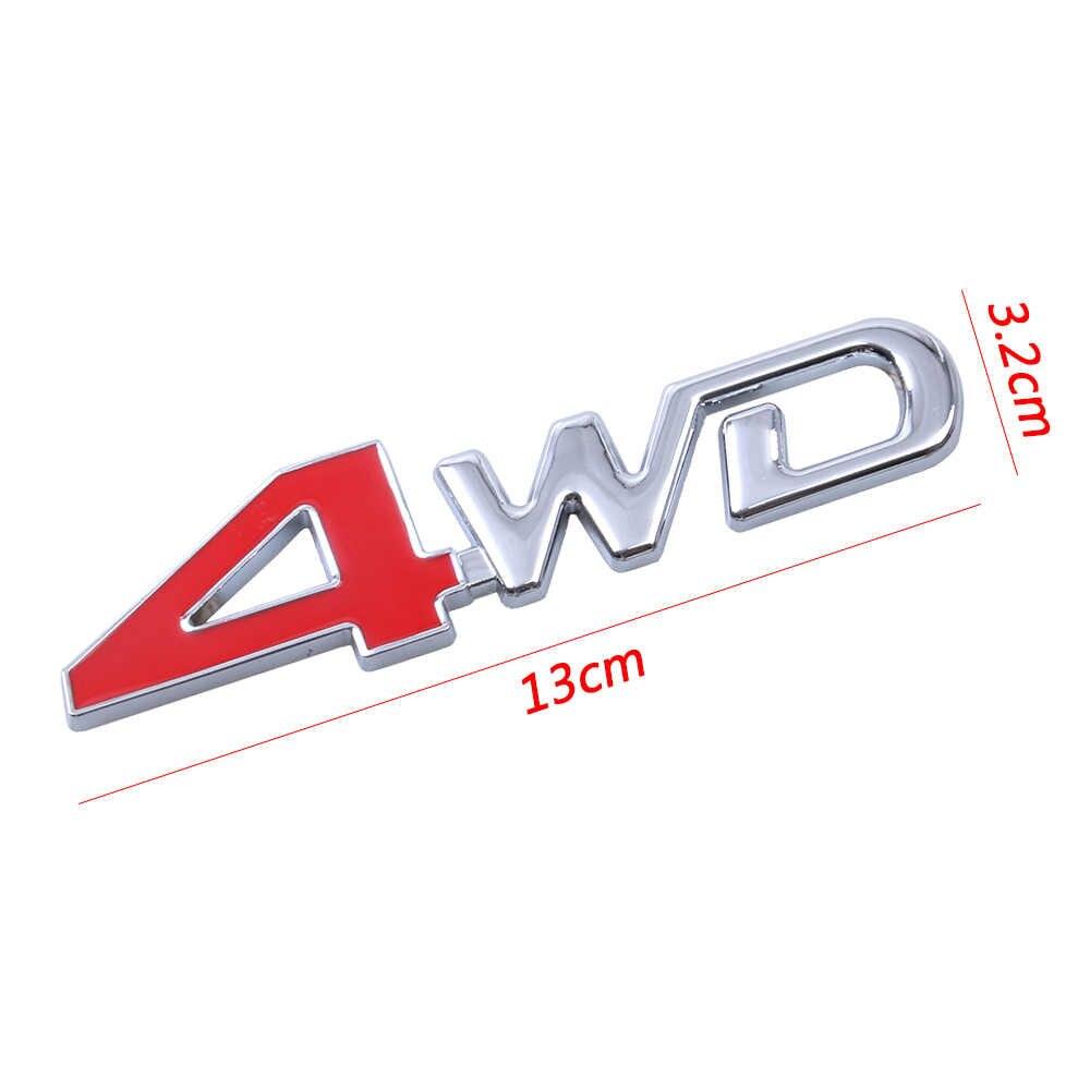 Voiture style 3D Chrome métal autocollant 4WD emblème 4X4 Badge autocollant SUV arrière coffre tout-terrain pour Toyota Highlander RAV4 Tiguan Honda