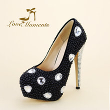 Love Moments Glittering Crystal wedding shoes bride rhinestone peacock  handmade  pupms women