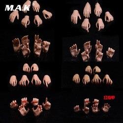 Kolekcjonerska opalenizna/blada skóra Model dłoni 1/6 skala figurka kobiety akcesoria PHICEN/tblegue Model dłoni 3 par/zestaw do ciała 12''