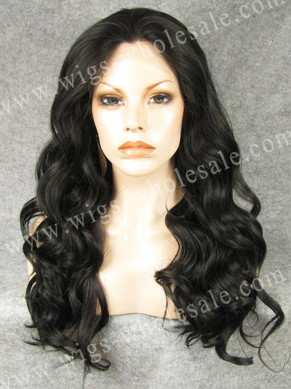 ФОТО Lolita Natural Wigs Body Wavy Style Synthetic Black Lace Front Wig