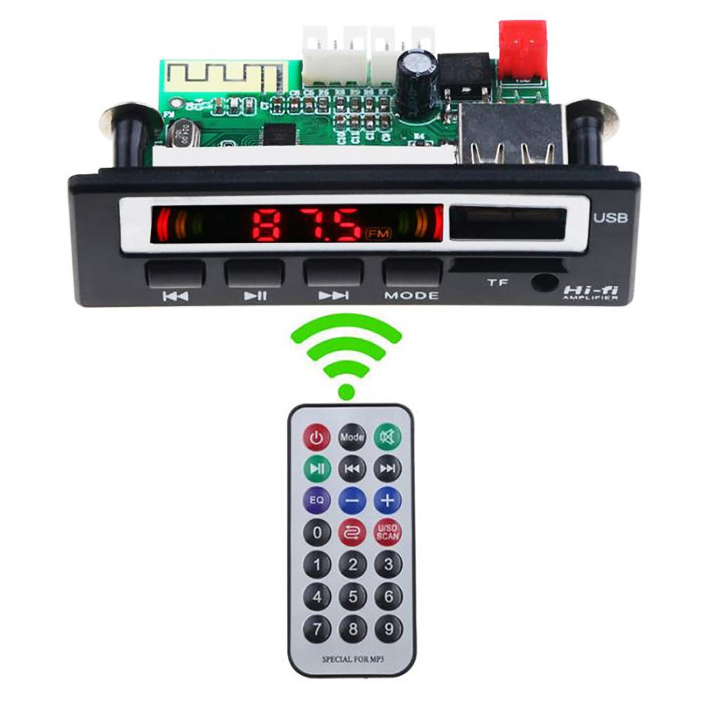Colored Bluetooth MP3 Decoder Board PCBA Speaker Module With Remote Controller