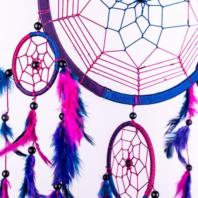Purple Feather Large Dreamcatcher