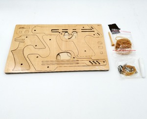 Image 3 - Laser Cutting DIY 3D Wooden Puzzle Woodcraft Assembly Kit Hunting wolf Eagle Train Dragon Rubber Band Gun For Christmas Gift