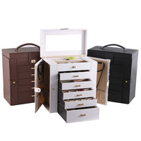 New Fashion Multi function Box Large capacity Princess South Korea Ring Box Jewelry Boxes Diamond Accessories Organizers Gifts