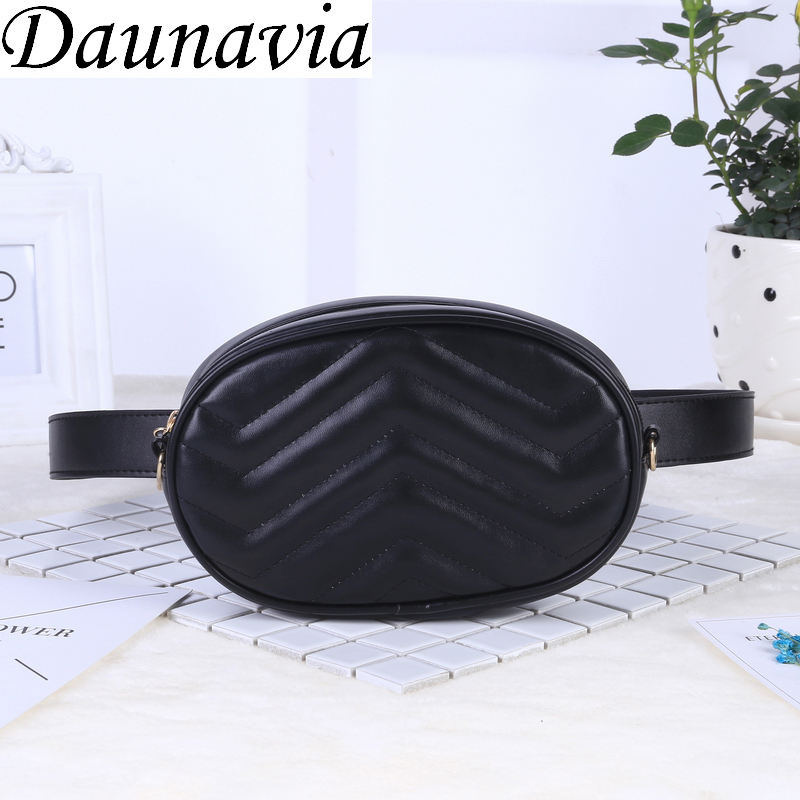 2019 New Bags for Women Pack Waist Bag Women Round Belt Bag Luxury Brand Leather Chest Handbag Beige New Fashion High Quality(China)
