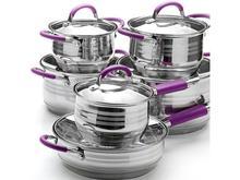 Набор для приготовления MAYER & BOCH, 12 предметов, фиолетовые ручки
