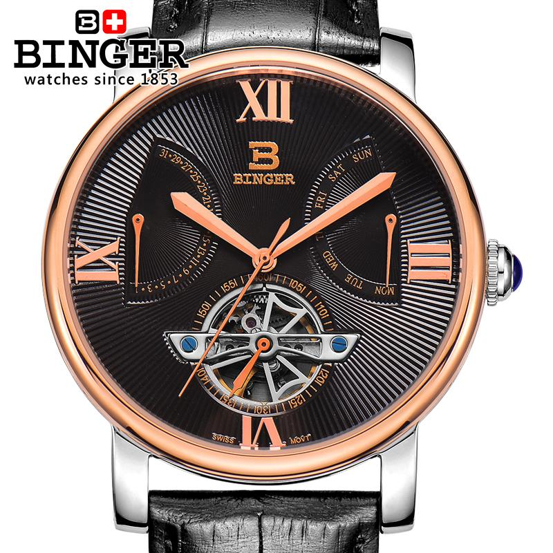 2017 Switzerland Men Watch Automatic Mechanical Binger Luxury Brand gold Watches Male Relogio Masculino Sapphire Watch BG-0408 binger men s classic mechanical watches waterproof rose gold steel stainless brand luxury watch men automatic relogio masculino