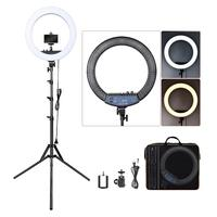 FOSOTO RL 18II Photographic Lighting 512 Led Ring Light Tripod 3200 5600K Ring Lamp Stand For Camera Photo Studio Phone Makeup