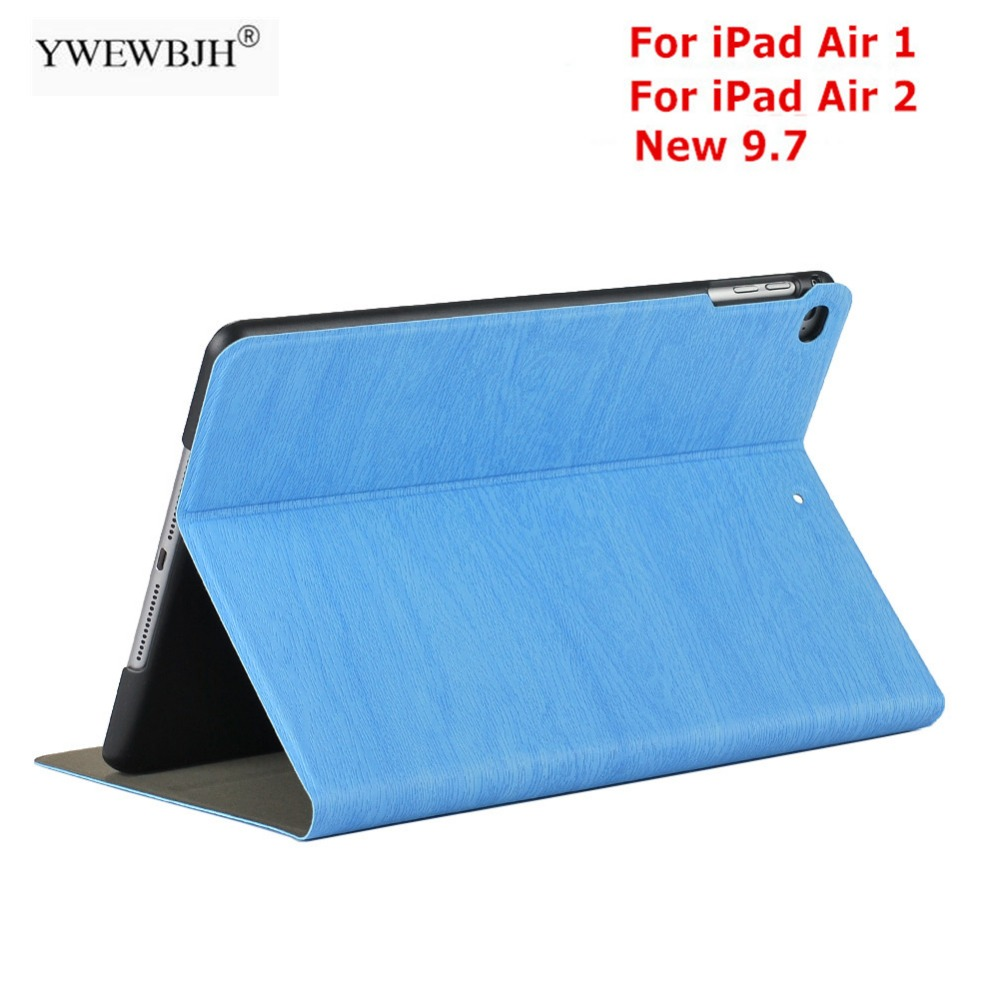 YWEWBJH For iPad Air 2 1 Case 2017 2018 New 9.7 Wood grain PU leather Smart Cover for