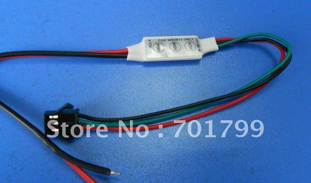 DC12V input WS2811 LED smart pixel controller, for testing, max 100pixels controlled