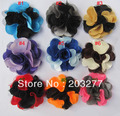Free shipping!36PCS/LOT  6CM New satin MESH flowers double color silk flower