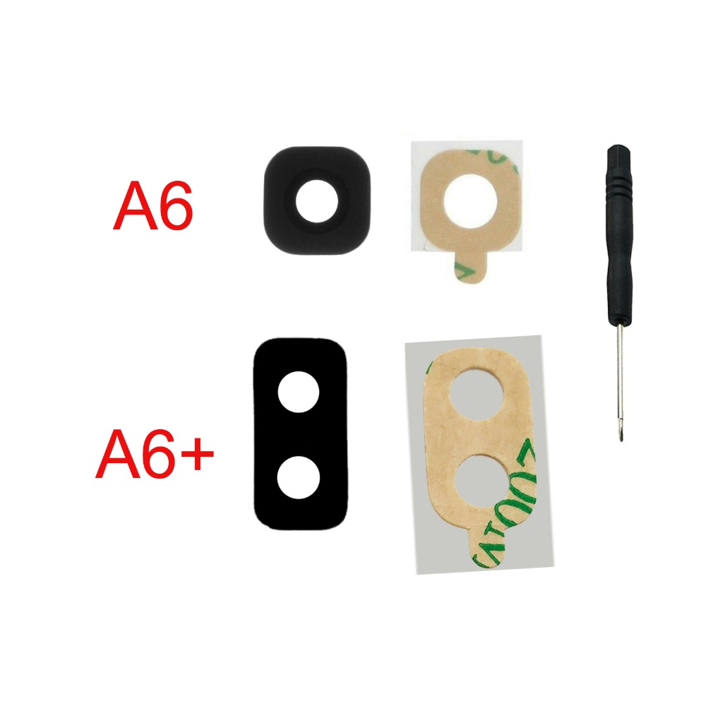 For Samsung Galaxy A6 2018 A600 A600F A6 Plus A6+ A605F A605 Phone Housing New Rear Back Camera Glass Lens Cover + Tools