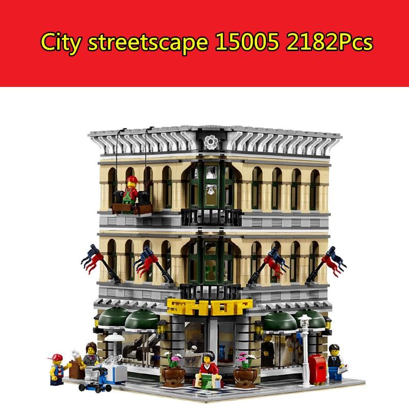 New CX 15005 2232pcs City Grand Emporium Model Building Blocks Brick Toys Compatible with lego 10211 3D Bricks figure toys цена