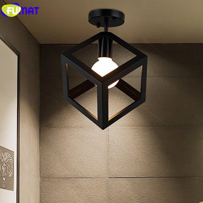 FUMAT Square Triangle Ceiling Light LED Iron Industrial Light Fixture Hallway Aisle Balcony Ceiling Lamp цена и фото