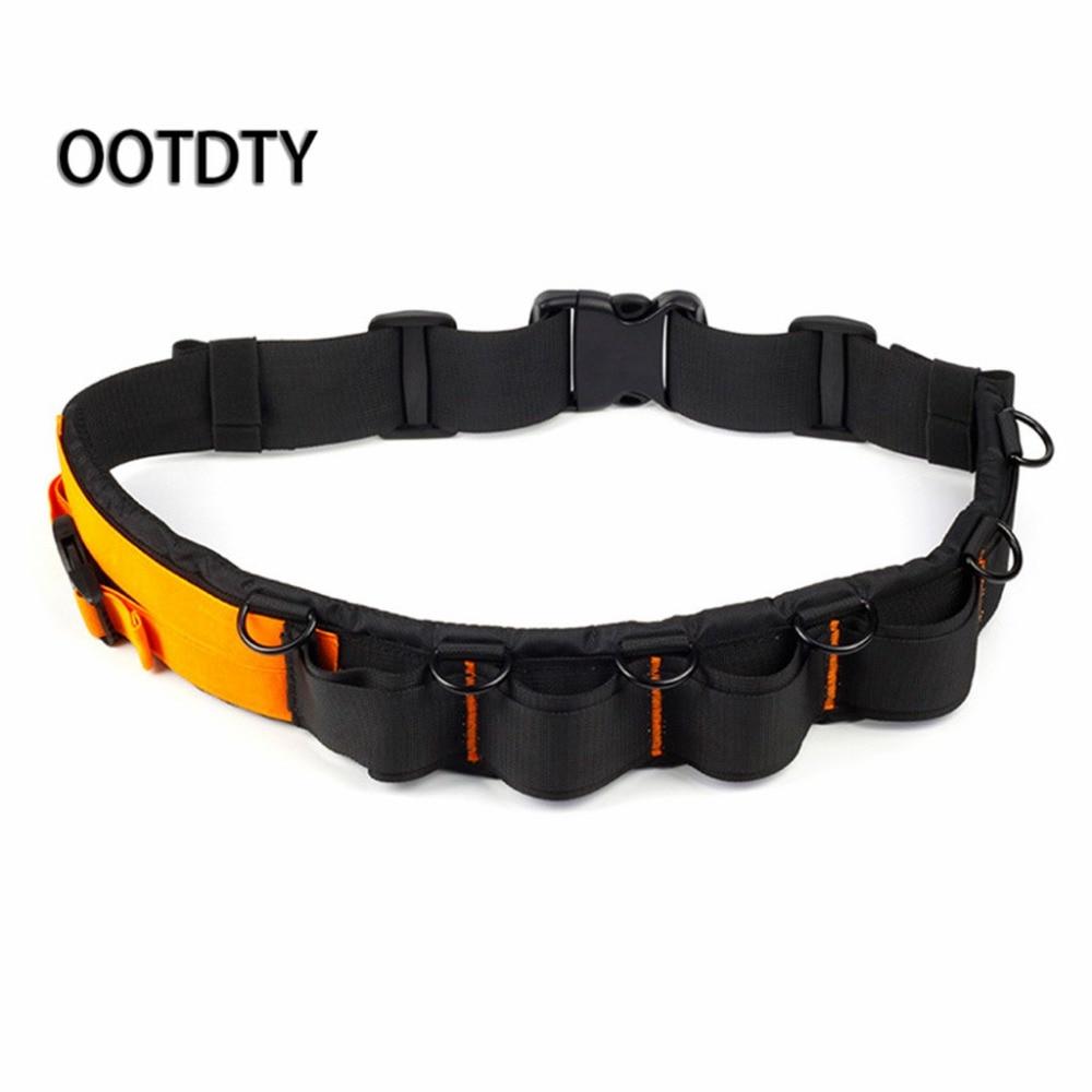 Camera Waist Belt Strap Adjustable Lens Tube Belt Black+Orange Camera Bag Belts Hang Lens Case Pouch Tripod Holder Strap