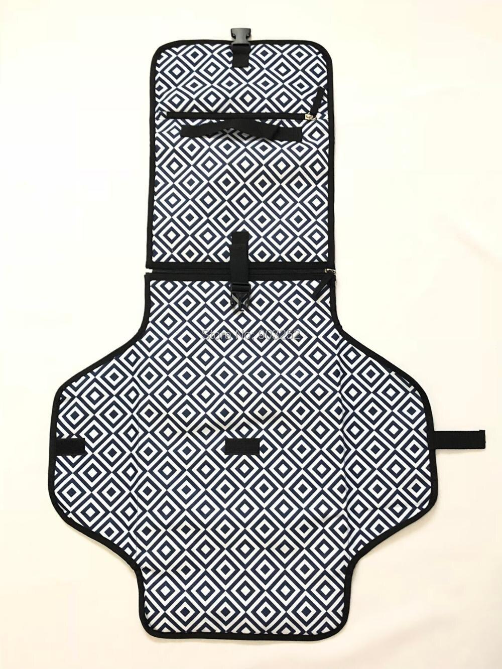 Портативный пеленальный коврик с мягкой подушкой на голову   Чехол для соски и силиконовый контейнер для детского крема   Водонепроницаемый сменный коврик