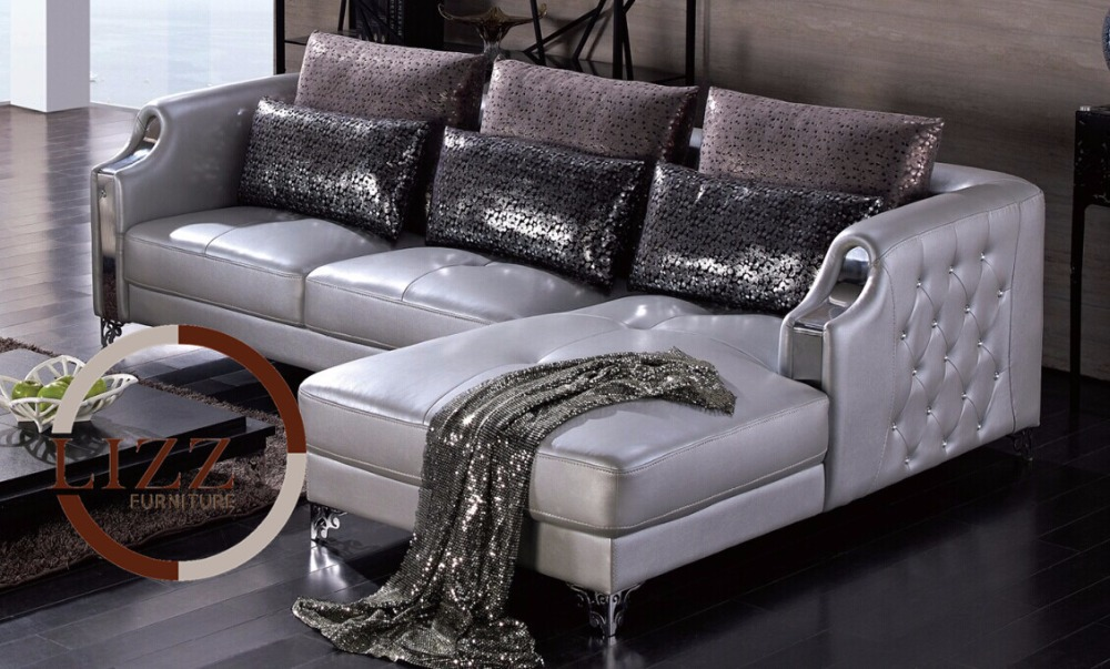 Silver Furniture Home Corner Sofa China LBZ 3077# High Quality Leather Sofa  Modern Sofa Mader Living Room Leather Sofas In Living Room Sofas From  Furniture ...