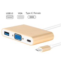 USB C Type C To VGA Adapter USB 3 0 Type C Female 3 In 1