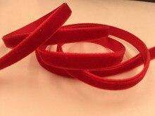 """21 opciones de colores 1/8 """"3mm terciopelo de poliéster de una sola cara cinta de terciopelo Cintas de terciopelo accesorios Diy 100 yardas lote"""