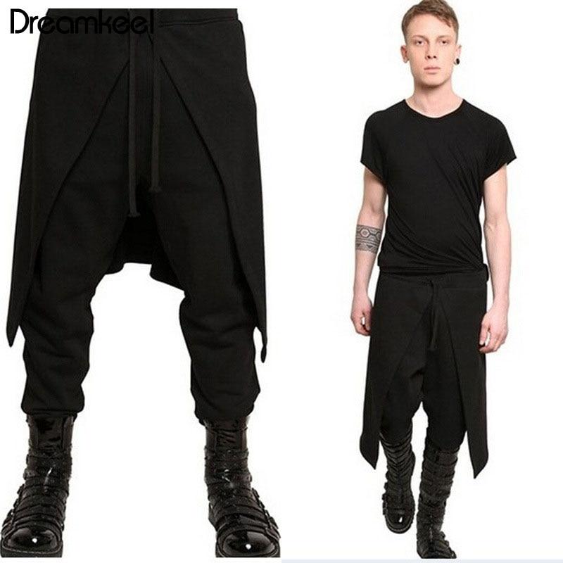 Fashion Men Womens Harem Baggy Check Hip Hop Dance Pant Drop Crotch Trousers New
