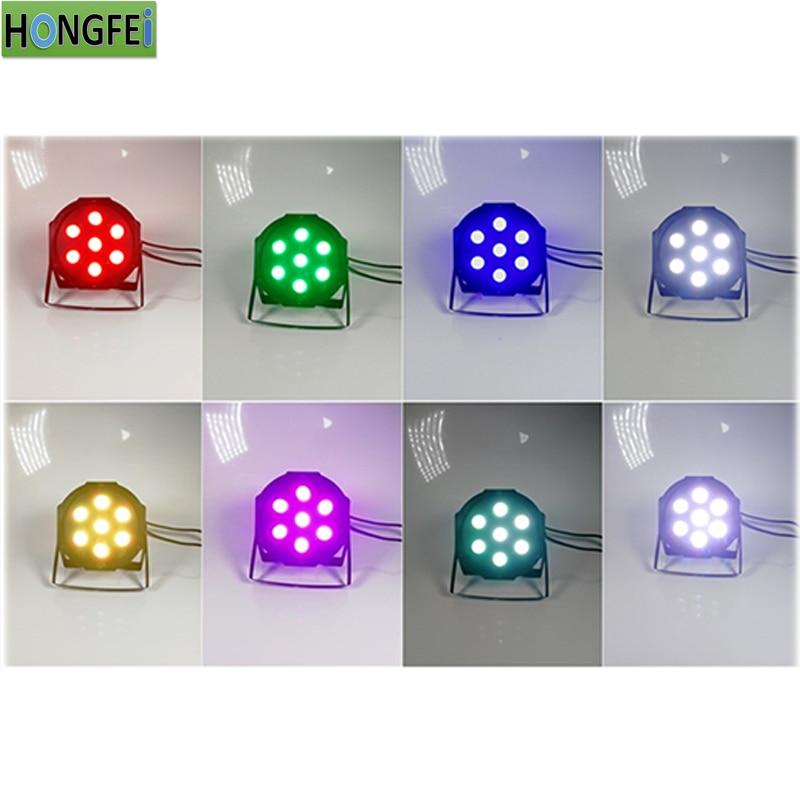 8pcs 7X12W LED PAR lights RGBW 4in1 flat par led party lights dmx512 disco lights dj