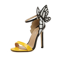 Womens Webster Butterfly Wings High Heels Bowtie Toe Ankle Strap Sandals Shoes High Heels Sandalias Mujer